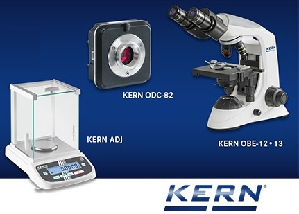 The price leader in analytical balances & the new all-round compound microscope from Kern